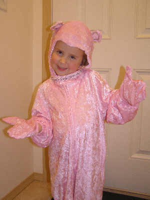 Calista as a Pink Kitty Cat