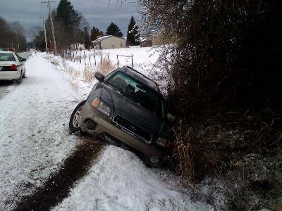 K's Car... In the ditch
